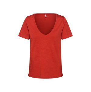 ONLY Tričko 'WORLD'  červená
