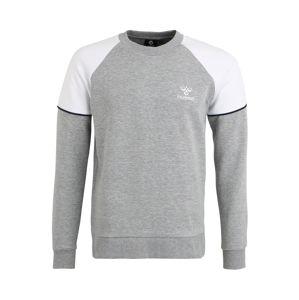 Hummel Sportovní mikina 'LAYTON SWEATSH'  světle šedá / bílá