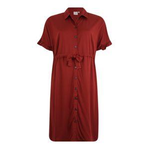 Junarose Společenské šaty 'JRALWIA 2/4 SLEEVE BELOW KNEE DRESS - K'  kaštanově hnědá