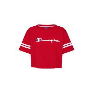 Champion Authentic Athletic Apparel Tričko 'Rochester Crop'  námořnická modř / červená / bílá