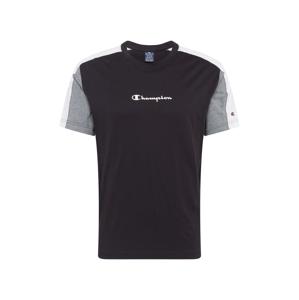 Champion Authentic Athletic Apparel Tričko  bílá / černá / šedá