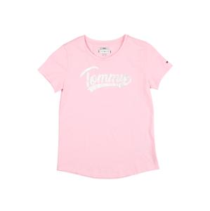 TOMMY HILFIGER Tričko 'FOIL'  bílá / světle růžová