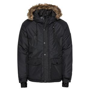 Pier One Zimní bunda 'Skiing Jacket Rip Stop'  černá