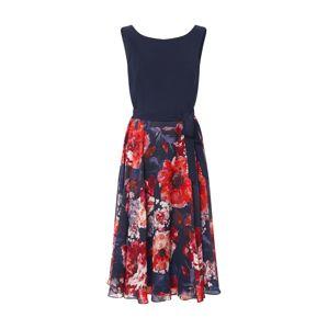 Vera Mont Koktejlové šaty  tmavě modrá / oranžově červená