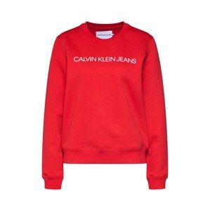 Calvin Klein Jeans Mikina 'INSTITUTIONAL'  červená