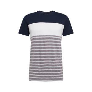 Cars Jeans Tričko 'LETON TS'  bílá / námořnická modř