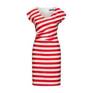 COMMA Letní šaty  červená / bílá