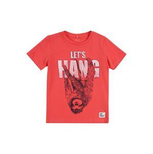 NAME IT Tričko 'HANGO'  červená / bílá