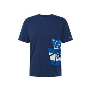 Tommy Jeans Tričko 'Heritage Flags'  bílá / námořnická modř