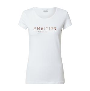 4F Funkční tričko  bílá / růžově zlatá