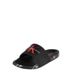 Calvin Klein Jeans Pantofle 'VAREN'  černá / červená / bílá