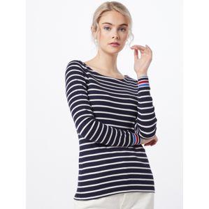 ESPRIT Tričko 'OCS stripe tee'  námořnická modř / bílá