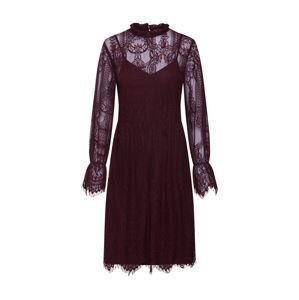 VILA Koktejlové šaty  burgundská červeň