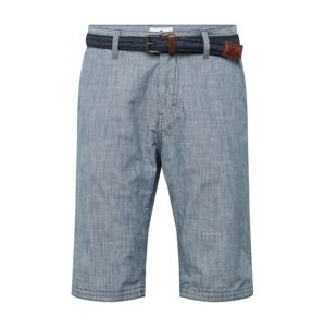 TOM TAILOR Chino kalhoty  modrá / bílá
