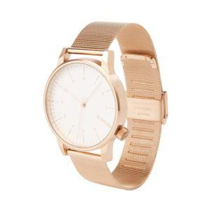 Komono Analogové hodinky 'Winston Royale'  růžově zlatá / bílá
