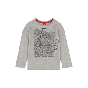 s.Oliver Junior Tričko  šedý melír / ohnivá červená / marine modrá