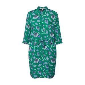 GARCIA Košilové šaty  modrá / tyrkysová / zelená