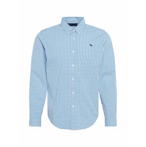 Abercrombie & Fitch Košile  bílá / světlemodrá