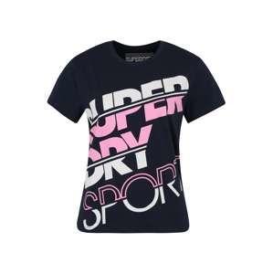 Superdry Funkční tričko 'SPORT BREAKER TEE'  námořnická modř / růžová