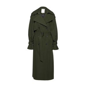 POSTYR Přechodný kabát  olivová