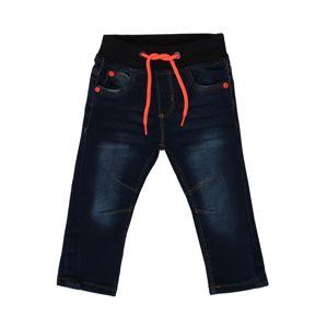 BLUE SEVEN Džíny  tmavě modrá / svítivě oranžová