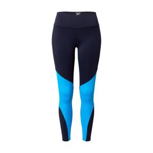 REEBOK Sportovní kalhoty  svítivě modrá / noční modrá