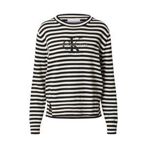 Calvin Klein Jeans Svetr  bílá / černá