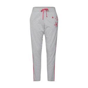 LIEBLINGSSTÜCK Kalhoty 'LS-003'  šedý melír / zelená / pink