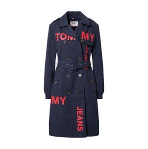 Tommy Jeans Přechodný kabát  červená / námořnická modř