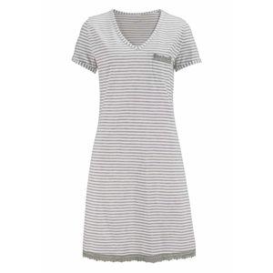 H.I.S Noční košilka  bílá / světle šedá