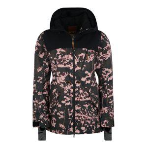 ROXY Outdoorová bunda 'STATED'  černá / tmavě zelená / růžová