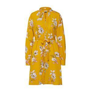 SOAKED IN LUXURY Košilové šaty 'Makenna Dress'  hořčicová / růžová / bílá