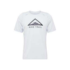 NIKE Funkční tričko 'Rise 365 Trail'  černá / bílý melír