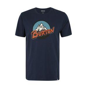 BURTON Funkční tričko 'Retro Mountain'  světlemodrá / tmavě modrá / rezavě hnědá