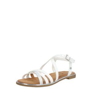 MUSTANG Páskové sandály  bílá