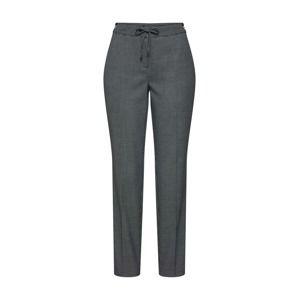 COMMA Kalhoty s puky  antracitová / bílá