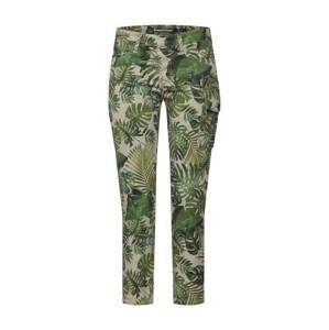 PLEASE Kalhoty  béžová / zelená