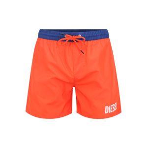 DIESEL Plavecké šortky  oranžově červená