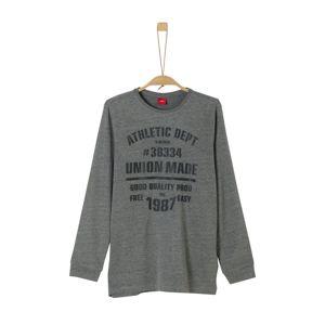 S.Oliver Junior Tričko  šedý melír / černá