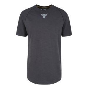 UNDER ARMOUR Funkční tričko 'Project Rock Charged Cotton SS'  tmavě šedá / černá