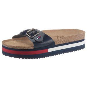 Tommy Jeans Pantofle  červená / bílá / marine modrá