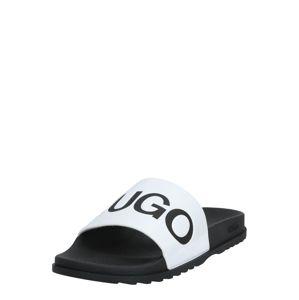 HUGO Pantofle  bílá / černá