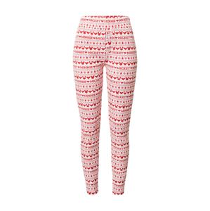 Cotton On Pyžamové kalhoty 'John'  červená / bílá