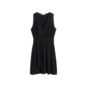 MANGO Koktejlové šaty  černá