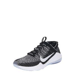 NIKE Sportovní boty 'Air Zoom Fearless Flyknit 2'  černá / bílá
