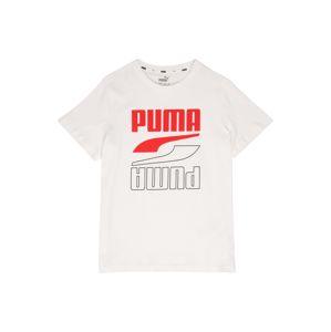 PUMA Tričko  bílá / červená