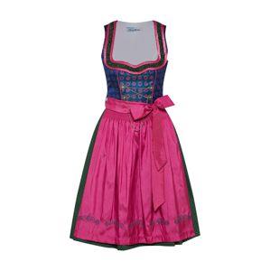 MONDKINI Dirndl  modrá / mix barev / pink