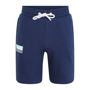 Superdry Sportovní kalhoty  aqua modrá / tmavě modrá