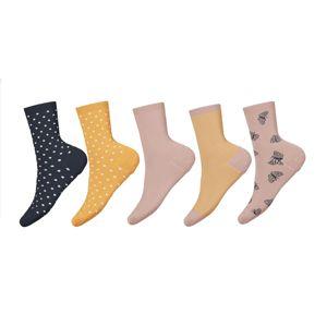 NAME IT Ponožky 'Vilde'  starorůžová / žlutá / námořnická modř