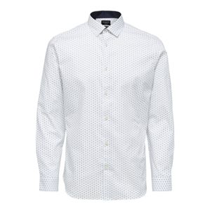 SELECTED HOMME Společenská košile  bílá / chladná modrá